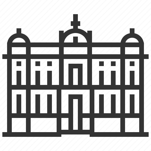 building, landmark, museum, national, serbia icon