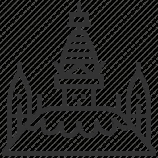 architecture, building, famous, landmark, swayambhunath icon
