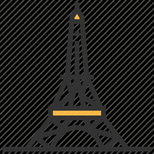 architecture, building, eiffel, landmark icon
