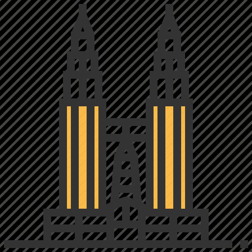 architecture, building, landmark, petronas, towers icon