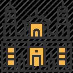bogota, building, cathedral, landmark, primatial icon