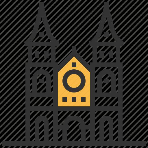 architecture, basilica, building, dame, landmark, notre, saigon icon