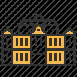 belvedere, building, landmark, upper, vienna icon