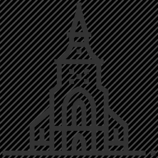 building, famous, landmark, odense, tourism icon
