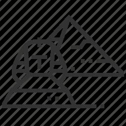giza, landmark, location, national, pyramid, sphinx icon