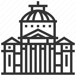 athenaeum, landmark, location, romanian, travel icon