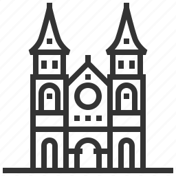 basilica, building, dame, landmark, notre, saigon icon