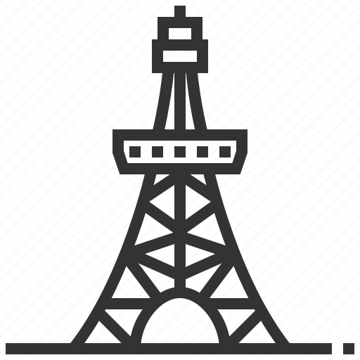 building, landmark, tokyo, tower icon