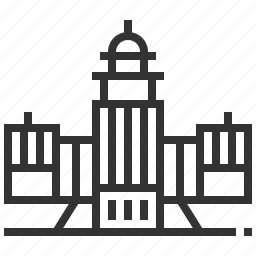 building, capitol, landmark, level, states, united icon
