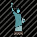 building, landmark, liberty, monument