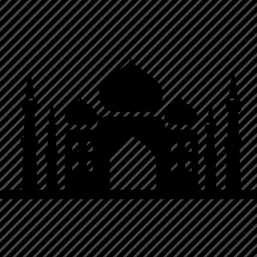 building, india, landmark, muslim, palace, tajmahal, travel icon