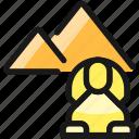 landmark, pyramid, sphinx