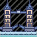 bridge, england, historical, landmark, monument, uk, world