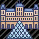 france, historical, landmark, louvre, monument, paris, world