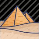 egypt, historical, landmark, monument, pyramids, world icon