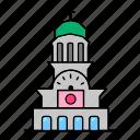 antim, building, landmarks, monastery, tower icon