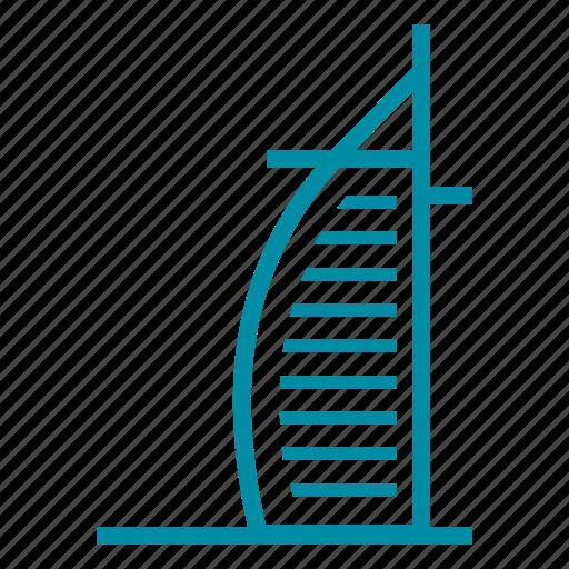 burj al arab, dubai, landmark, sight, uai icon