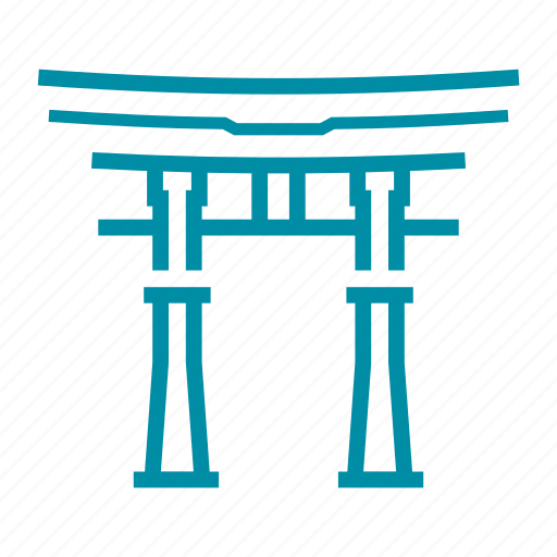 asian, gate, japan, japanese, landmark, sight, torii icon