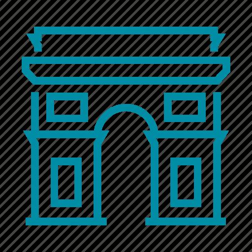 arch, france, landmark, paris, sight, triumph, triumphal icon