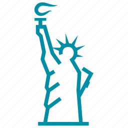 america, american, landmark, new york, sight, statue of liberty, usa icon