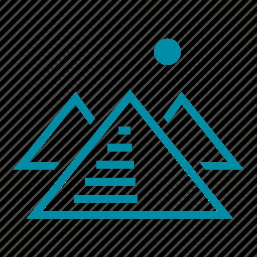 egypt, gisa, landmark, pyramid, sight, tourism, travel icon