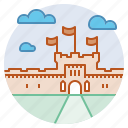 edinburgh castle, fortress, historic, kingdom, landmark, scotland, stronghold icon