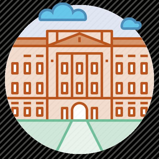 architecture, buckingham, london, palace, royal, united kingdom icon