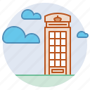 british, kiosk, london, public telephone, telephone box icon