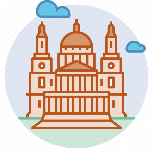 anglican, architecture, cathedral, landmark, london, st paul icon