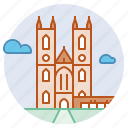 architecture, church, gothic, landmark, london, westminster abbey icon