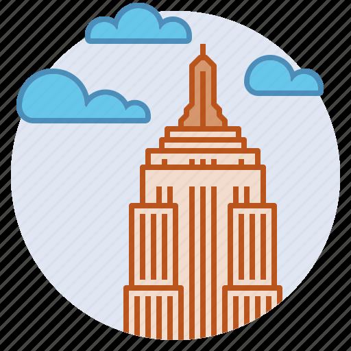 capitalism, empire state building, manhattan, new york, skyscraper icon