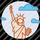democracy, freedom, landmark, liberalism, liberty, new york, statue of liberty icon