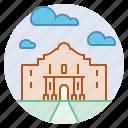 alamo monument, architecture, famous, history, landmark, san antonio, texas icon