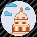 capitol, congress, government, politics, president, washington dc icon