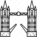 england, landmark, london, tower bridge icon