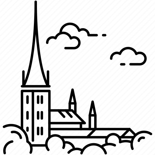 catholic, church, estonia, landmark, religion, st. olaf's church, tallinn icon