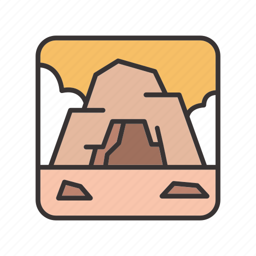 cave, landscape, mine, rock, stone icon