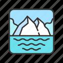 glacier, ice, iceberg, landscape, ocean icon