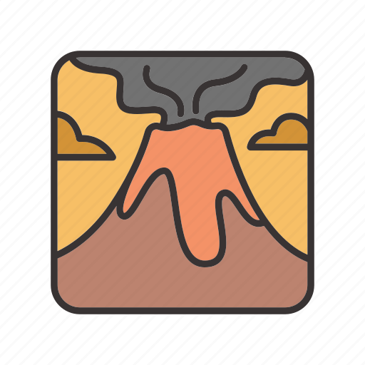 landscape, lava, mountain, volcano icon