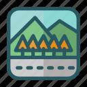 landscape, mountain, nature, road, tree
