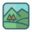 hill, landscape, mountain, nature, tree