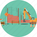 architecture, background, build, construction, exterior, industry, material icon