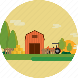 background, farm, field, grass, harvest, healthy, nature icon