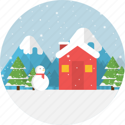 background, holiday, merry christmas, snow, snowman, winter, xmas icon