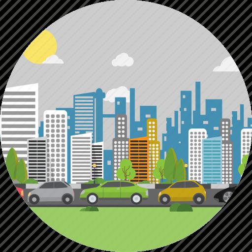 background, car, road, street, traffic, traffic jam, transport icon