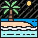 beach, environment, landscape, nature, palm, sea, tree