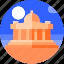 america, circle, flat icon, landscape, tourism, washington, white house icon