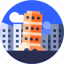 circle, flat icon, italy, landscape, pizza tower, tourism icon