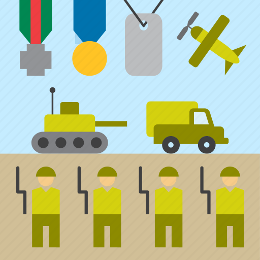 armed forces, army, military, parade, soldier, tank, war icon