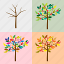 seasonal, nature, season, tree, the four seasons, bare tree, four seasons